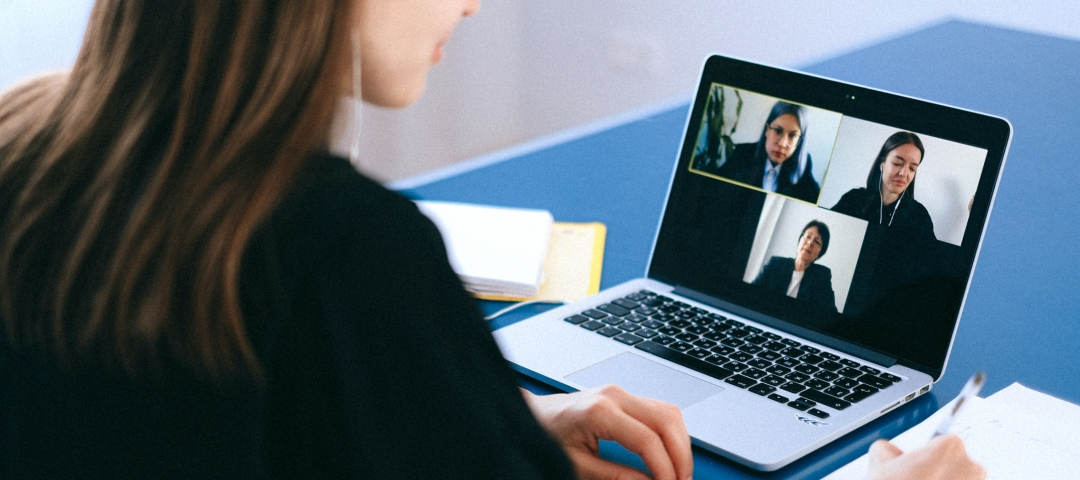 People on video call