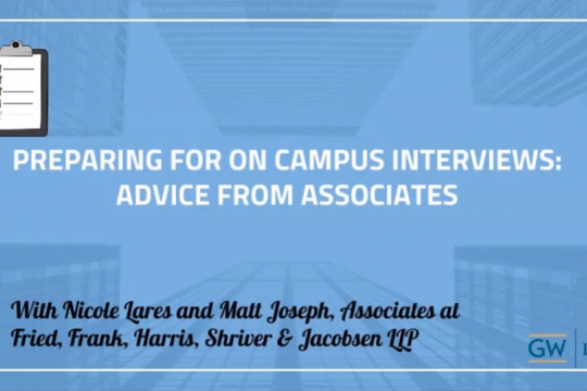 Preparing for OCI: Advice from Associates