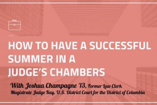 Summer Judges Chambers